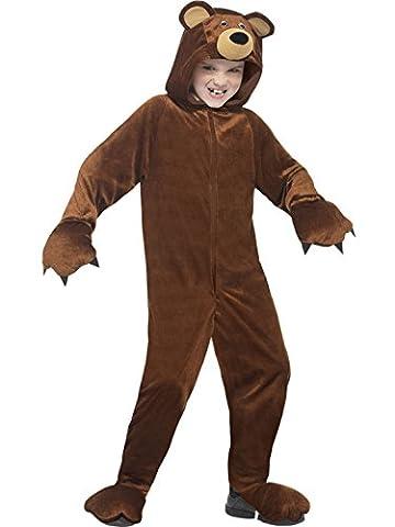 erdbeerloft - Unisex - Kinder Karneval Ganzkörper Kostüm Bär , Mehrfarbig, Größe 140-152, 10-12 (Kind Cat Girl Kostüm)