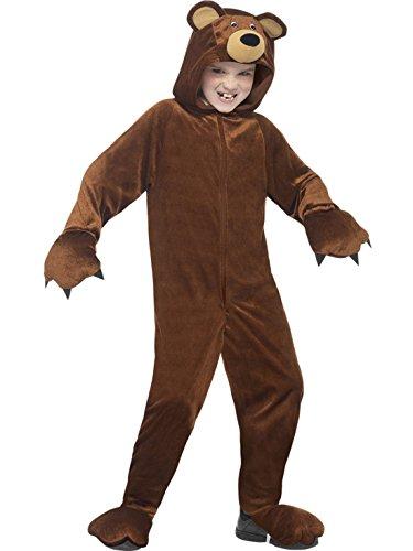 erdbeerloft - Unisex - Kinder Karneval Ganzkörper Kostüm Bär , Mehrfarbig, Größe 122-134, 7-9 (Girl Deutsche Bar Kostüm)