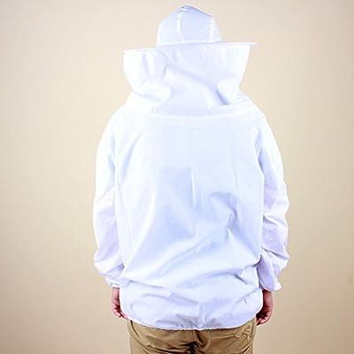 Yosoo Deluxe Baumwolle Polyester Professional Imkerbekleidung Imker Bienenzüchter Hut mit Veil Schutzausrüstung mit Reißverschluss für Bee Keepers, Weiß von Yosoo - Du und dein Garten