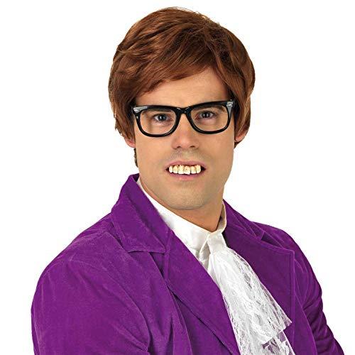 Austin Kostüm - Fun Shack Herren Costume Kostüm, 60s Gigilo Wig, Einheitsgröße