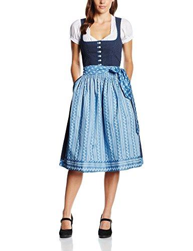 Trachten Stoiber Damen Dirndl 116244-7 Blau (Dunkelblau)