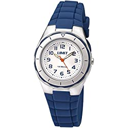 Limit Active Kids Quartz Watch with White Dial Analogue Display and Blue Silicon Strap 5587.24