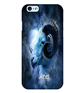 PrintVisa Zodiac Aries 3D Hard Polycarbonate Designer Back Case Cover for Apple iPhone 6S