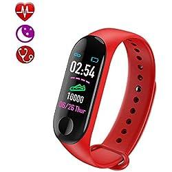 AIGUO Monitor de Ritmo cardíaco para Reloj Inteligente, monitorizador de Actividad Pantalla Colorida con Monitor de sueño, podómetro Bluetooth Reloj Inteligente de Agua,para Mujeres Hombres niños.