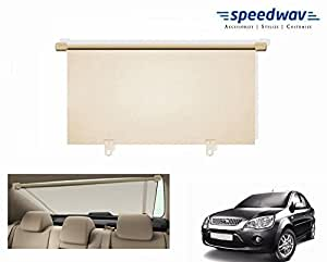 Speedwav Car Rear Window Roller Sunshade 100cm BEIGE- Ford Fiesta Classic
