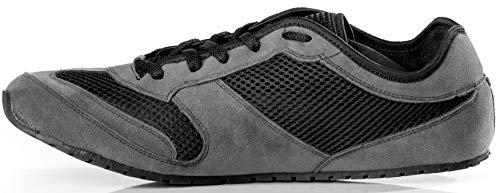 Magical Shoes Explorer Vegan Barfußschuhe | Damen | Herren | Jugendliche | Laufschuhe | Zero Drop | Flexibel | Rutschfest, Größen:44/282mm, Farbe:MS Explorer Vegan - Grau/Schwarz - 2