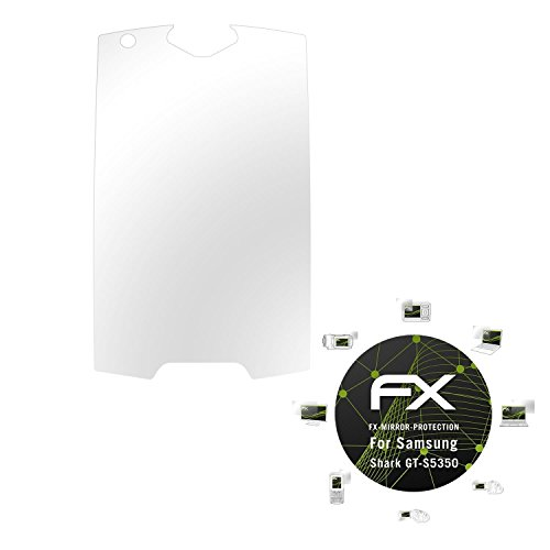 Samsung Shark (GT-S5350) Spiegelfolie - atFoliX FX-Mirror Displayschutz Folie mit Spiegeleffekt