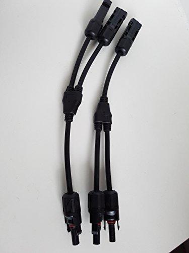 ET Paar Y Typ MC4 Stecker Buchse Solar Panel Kabelue zu 3 Steckverbinder (Solar-panel-überspannungsschutz)