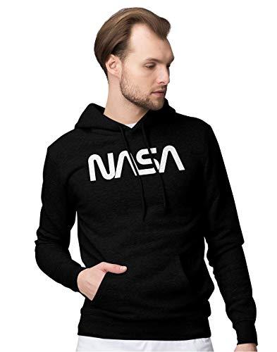 BLAK TEE Official Vintage NASA Worm Logo Unisex Pullover Hoodie M (Sun Star Industries)