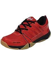 B-TUF SHUTTLER Badminton Shoes Unisex (Non Marking) (Red/Black)