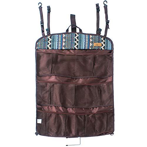 BENPAO Multifunktionale Hängeaufbewahrungstasche Portable Comestic Sundries Veranstalter Outdoor Storage Packet-Einzigartige Ethnic-Style-Für Camping Wanderreise Zeltwand