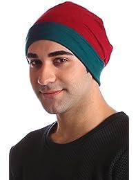 Unisexe Réversible Coton Beanie pour Perte de Cheveux, Cancer, Chimio