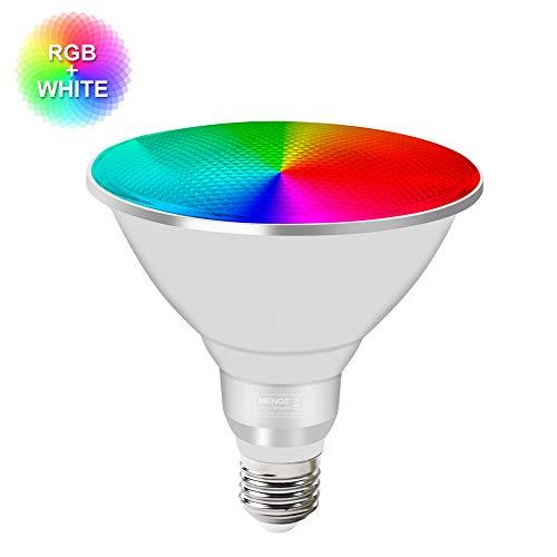 MENGS Wasserdicht E27 PAR38 LED RGBW Lampe mit Fernbedienung 20W Dimmbare Birne mit RGB + Weiß Licht AC 85-265V