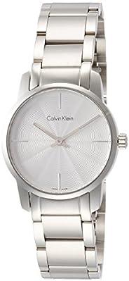 Calvin Klein K2G23146 Womens Quartz Watch, Analog Display and Stainless Steel Strap - Silver