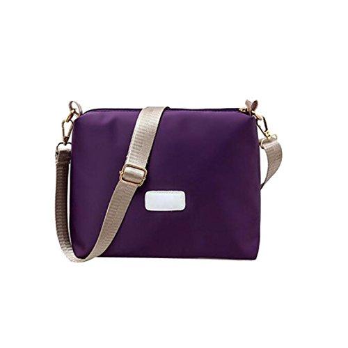 BUKUANG Tessuto Di Nylon Immagine Pacchetto Secchio Zaino Tre Pezzi Spalla Ms. Borse Diagonali,Purple Black