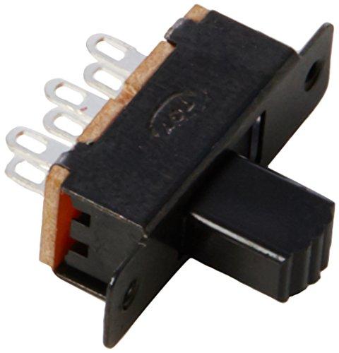 sourcingmap-a12013100ux0122-10-pezzi-ss22f25-g7-2-posizione-del-pannello-dpdt-2p2t-montare-mini-slit