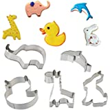 UBLISS Set de Galletas Cortador de Mousse Formas (12 piezas) - Animal Cookie Cutter Set