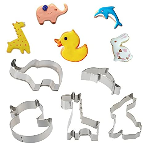 COKOSIM 12PCS Animals Shape Stainless Steel Cookie Cutters Sets for Cake Decorating (12 Pieces)