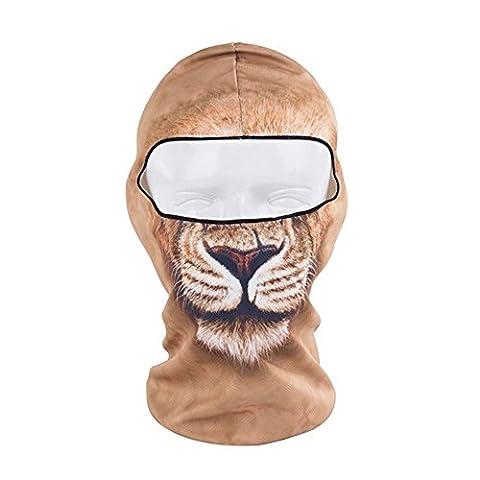 Mfpower Tête de mort 3d Animal Active Sports de plein air Cyclisme Moto masques de ski Capuche Chapeau Voile Cagoule UV protéger Masque complet Bb29