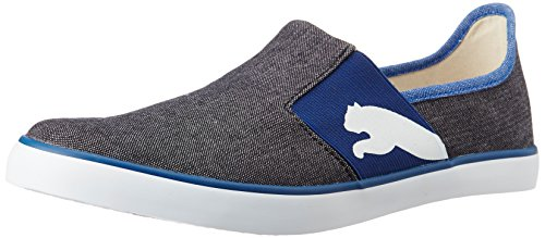 Puma Men's LazySlipOnIIDP Black, Monaco Blue and Glacier Grey slipons - 8 UK