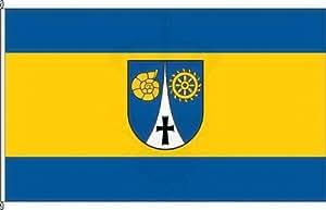 Königsbanner Tischfähnchen Erkerode - Tischflaggenständer aus Chrom