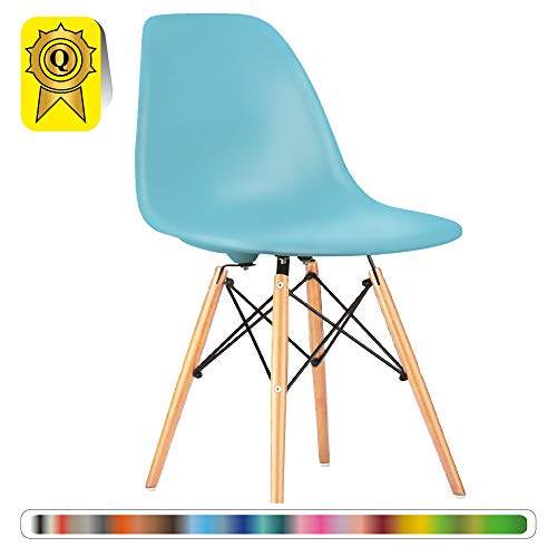 Ciel Decopresto Bois x Bleu DSWL Scandinave DP BL 1 Design 1 Naturel Chaise Pieds OZXiukP