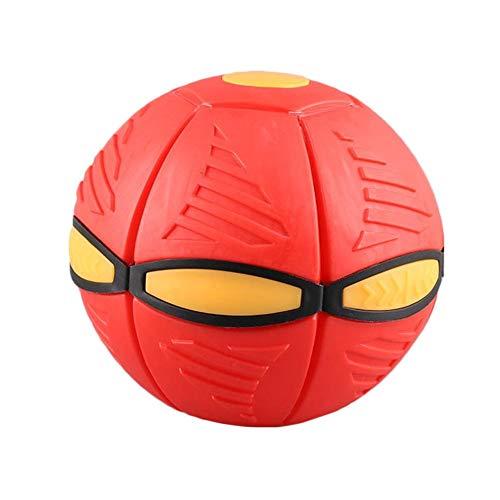 Rubyu Phlat Ball Fliegen UFO Flat Throw Disc Ball mit LED Licht Kinder Spielzeug für Outdoor, Garten, Strand, Spiel