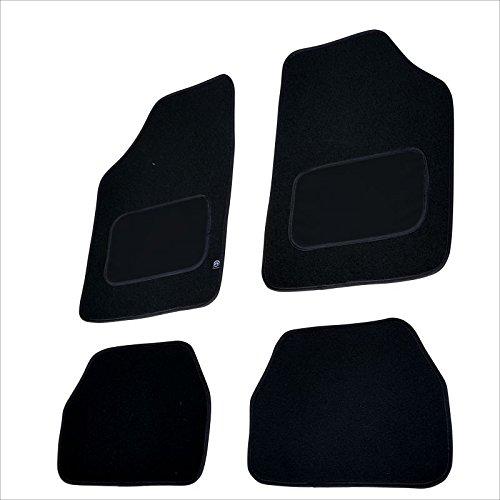 akhan-tuning FUM03G Caoutchouc Tapis de Sol de Voitures Noir 4 Piece Universal Tapis de Sol Auto