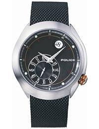 Police VEGA PL11178JS/02M - Reloj de caballero de cuarzo con correa de acero inoxidable negra