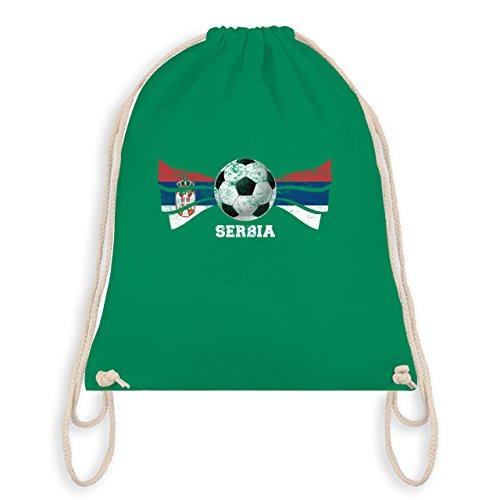 Fußball-Weltmeisterschaft 2018 - Serbia Fußball Vintage Flagge - Unisize - Grün - WM110 -...