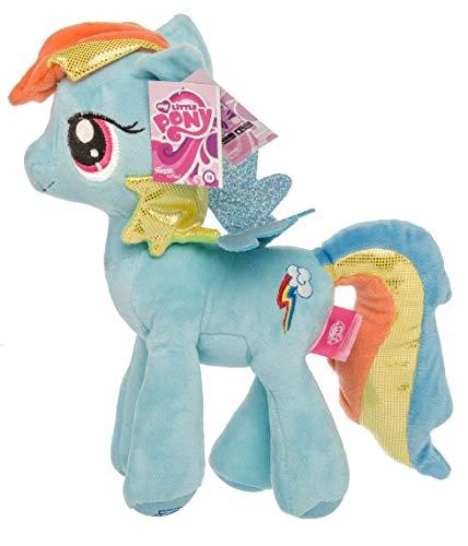 My Little Pony Plüschtier Kuscheltiere für Mädchen, Glitzermähne Glitzerflügel 27 cm (Blau) ()