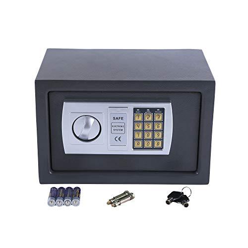 JOM Safe Möbeltresor Tresor Wandtresor Wandsafe Dokumententresor mit Elektonik- Zahlenschloss 31x20x20 cm LED Anzeige Stahlbolzen