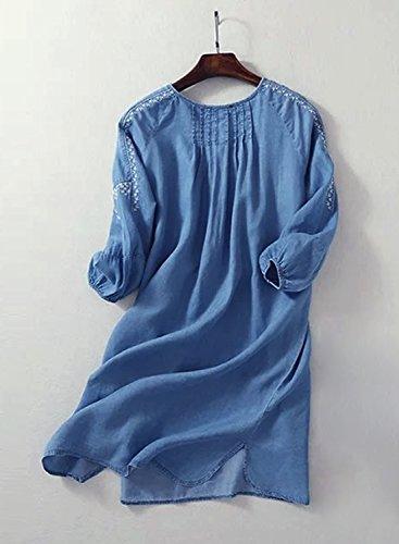 Azbro -  Vestito  - relaxed - Donna Blue