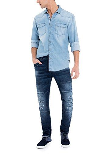 Salsa - 1st level Slender schlank geschnittene Jeans - Herren Blau