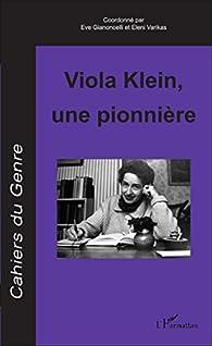 Viola Klein, une pionnière par Eve Gianoncelli