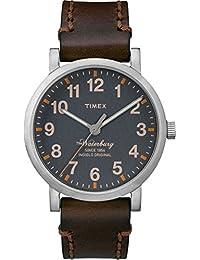 Timex Herren-Armbanduhr Analog Quarz Leder TW2P58700