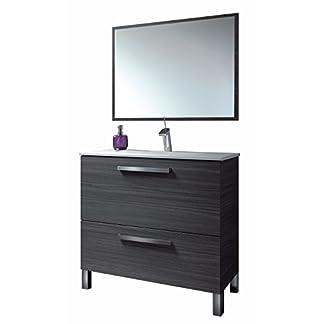 41UQnBEo9SL. SS324  - HABITMOBEL Mueble Baño con Espejo, Lavabo Cerámica