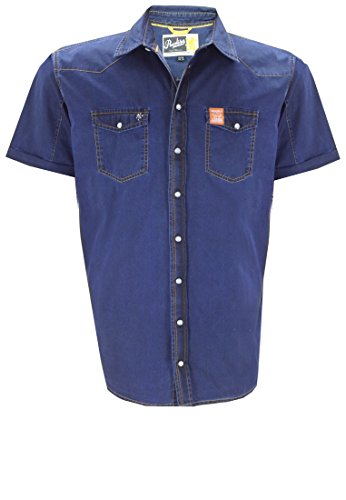 Replika -  Camicia Casual  - Uomo blu XXXX-Large