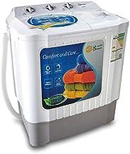 Dansat Twin Tub Washing Machine, Top Load, 5 Kg, White - DW5W