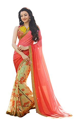 Shaily Retails Georgette Saree (Sma-6605_Pink)
