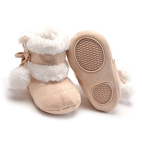 Baby-Schnee-Stiefel warme Winter-Kind-Schuh Prewalker (M: 6 ~ 12 Monate, Beige) Beige