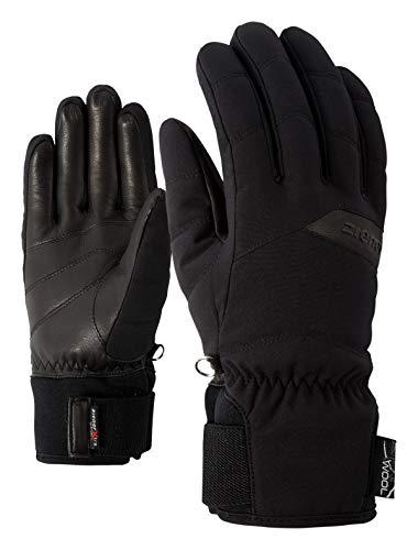 Ziener Damen KOMI AS(R) AW lady glove Ski-handschuhe/Wintersport | Wasserdicht, Atmungsaktiv, black, 7.5