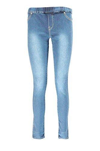DELUXE EDITION Girls Stylish Light & Dark Wash Stretched Skinny Jeggings Size UK 8-14
