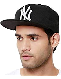 FRIENDSKART Snapback Black White NY Hip Hop Cap for Men, Women, Boys and Girls
