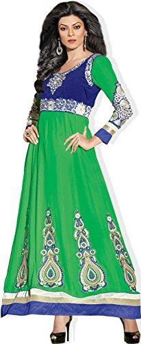 Atisundar Womens Georgette Anarkali Dress Material (4418_32_11002 -Green -Free Size)