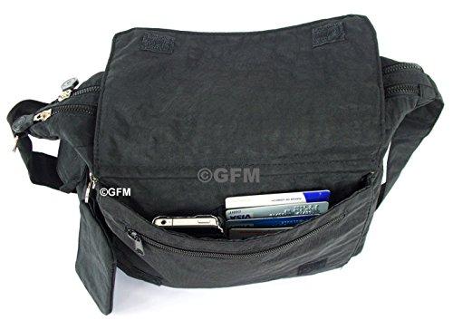 GFM Fashion, Borsa a tracolla donna Multicolore multicolore Small Style 1 - Light Green (HLJTN)
