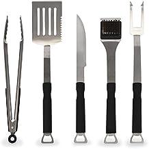 Flamen Conjunto de 5 piezas de acero inoxidable para Barbacoa