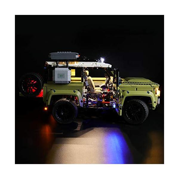 BRIKSMAX Kit di Illuminazione a LED per Lego Technic Land Rover Defender,Compatibile con Il Modello Lego 42110… 4 spesavip