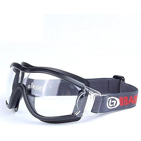 OPEL-R Impacto de campo infantil de Deportes Fútbol gafas, ventilación al aire libre y anti niebla conducción deportes gafas, protección de marco completo, material de la PC , black