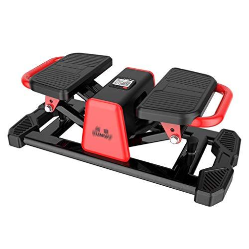 Stepper Macchine per Training aerobico Home Stovepipe pedaler Piccolo Tapis roulant Fitness Arrampicata Tapis roulant Tapis roulant 100 kg Conteggio Intelligente (Color : Red, Size : 68 * 34 * 25cm)